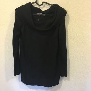 NWT LOFT black off the shoulder sweater